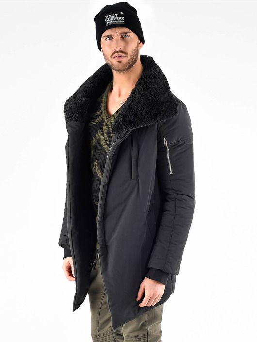 VSCT Clubwear Parka Asymetric Luxury Zipper schwarz