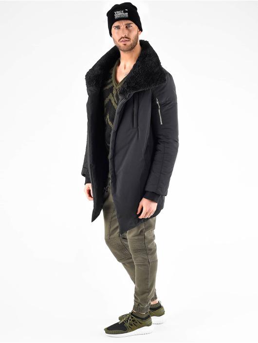 VSCT Clubwear Parka Asymetric Luxury Zipper zwart