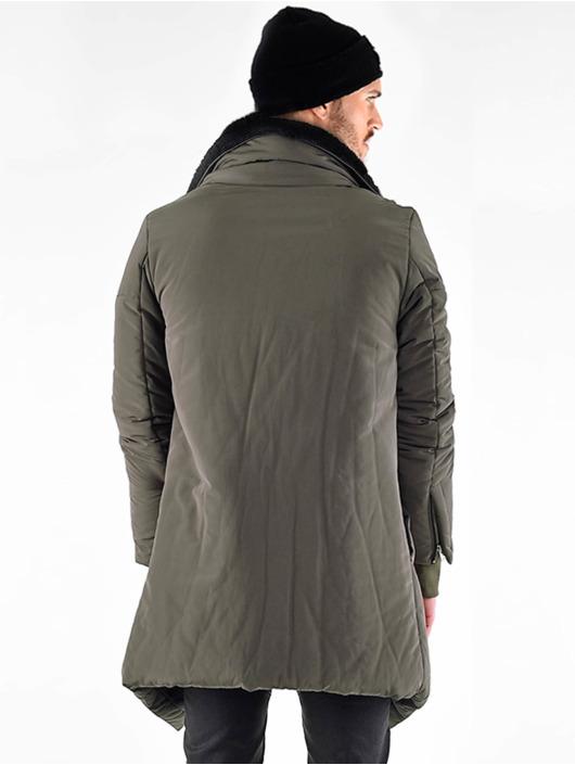 VSCT Clubwear Parkatakki Asymetric Luxury Zipper khakiruskea