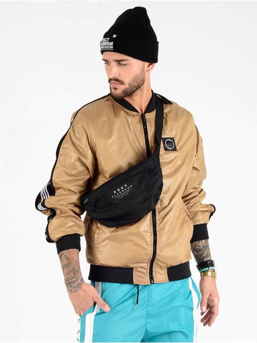VSCT Clubwear Prechodné vetrovky Luxury Sleeve Zipper hnedá