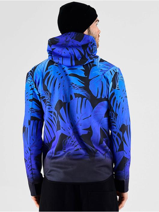 VSCT Clubwear Prechodné vetrovky Graded Tech Fleece Hooded Leaf-Camo modrá
