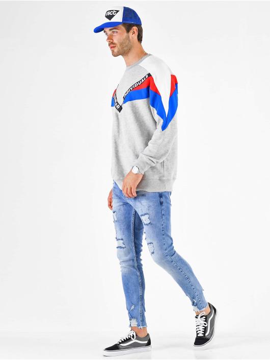 VSCT Clubwear Pullover Coach V Logo Tape Crew grau