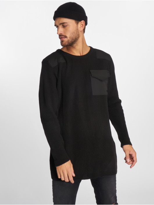 VSCT Clubwear Pullover Military Patch Oversized schwarz