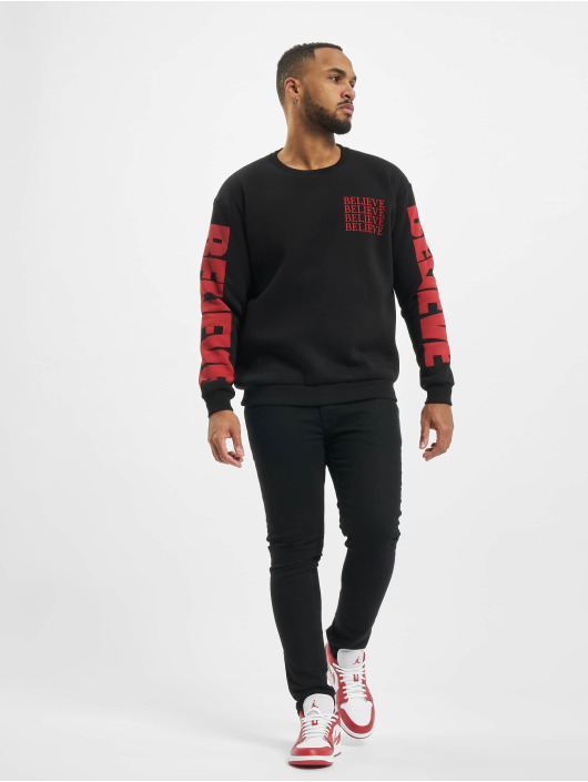 "VSCT Clubwear Pullover ""believe"" 80ies schwarz"