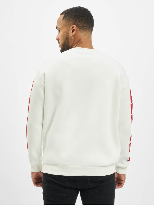 """VSCT Clubwear Pullover """"believe"""" 80ies white"""