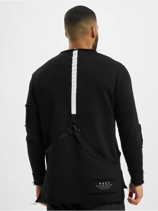 VSCT Clubwear Pulóvre Tape-Patches èierna