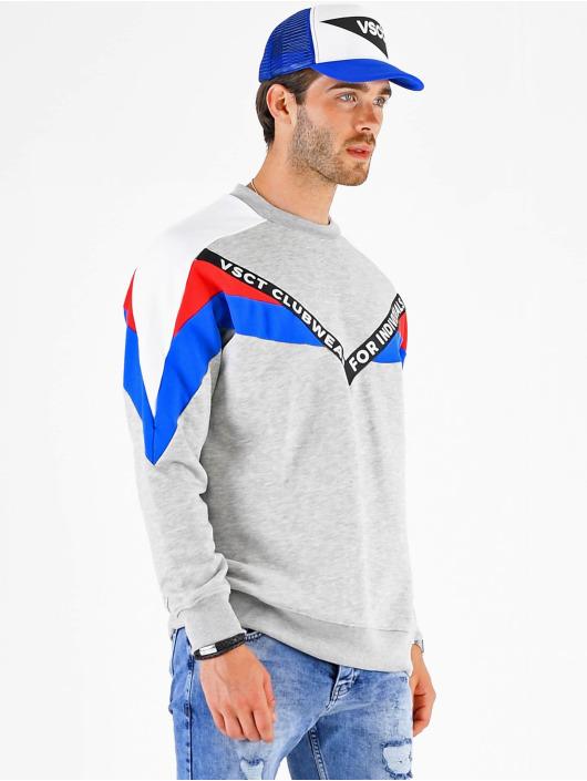 VSCT Clubwear Pulóvre Coach V Logo Tape Crew šedá