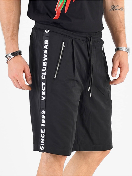 VSCT Clubwear Shorts Luxury Logo Tape schwarz