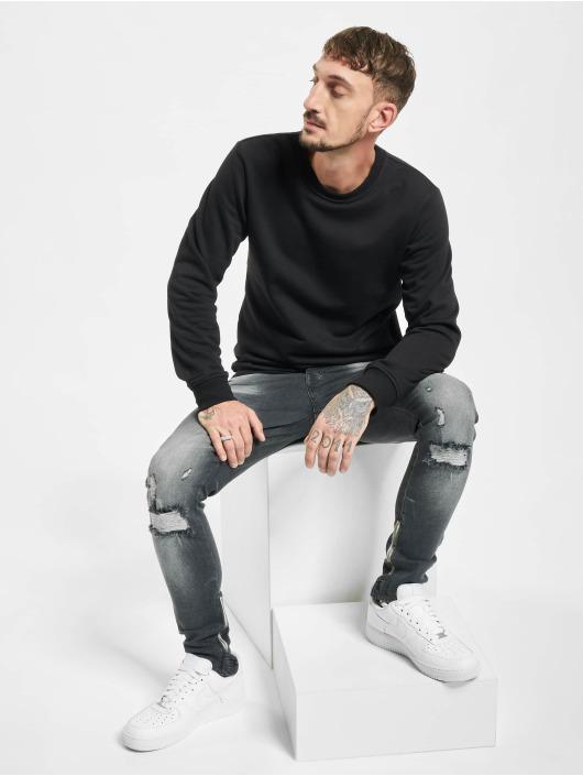 VSCT Clubwear Skinny Jeans Knox Leg Bottom Zip czarny