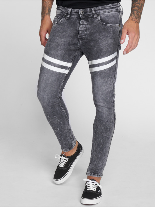 VSCT Clubwear Skinny Jeans Nick Athletic Musclefit grau