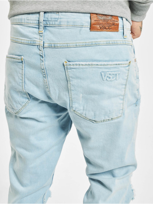 VSCT Clubwear Skinny Jeans Knox Knee Cut modrý