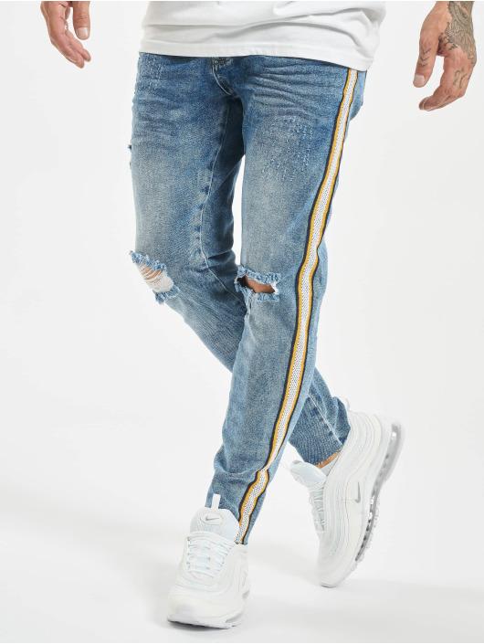 VSCT Clubwear Skinny Jeans Keanu Racing Stripe modrý