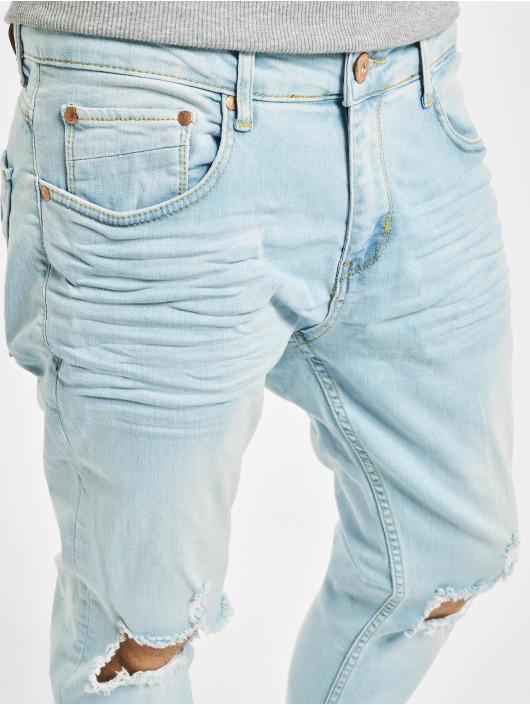 VSCT Clubwear Skinny Jeans Knox Knee Cut niebieski
