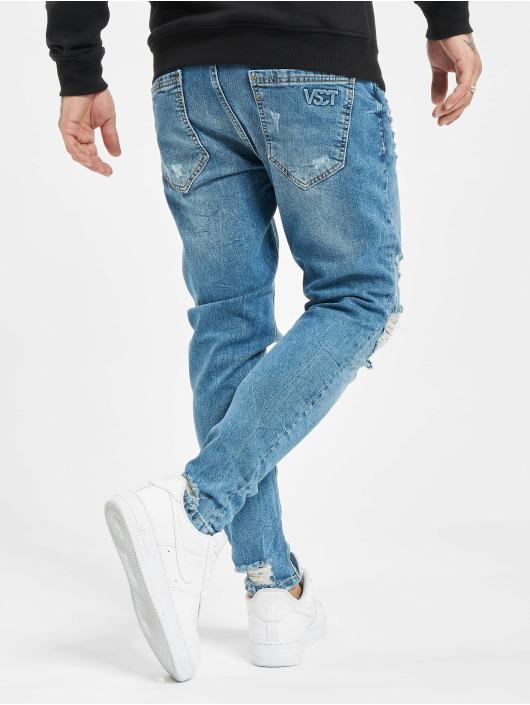 VSCT Clubwear Skinny Jeans Thor Knee Cut Slim Fit niebieski