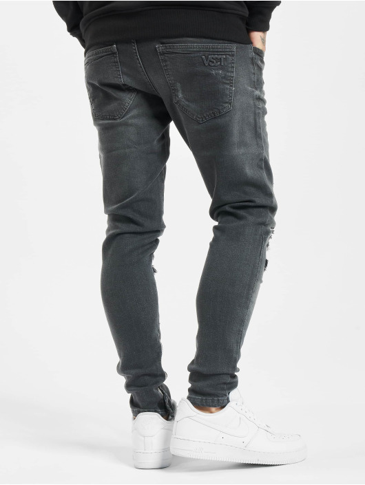 VSCT Clubwear Skinny Jeans Knox Leg Bottom Zip schwarz