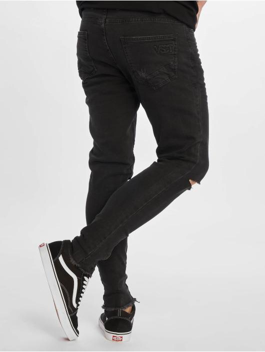 VSCT Clubwear Slim Fit Jeans Keanu Leg Zip èierna