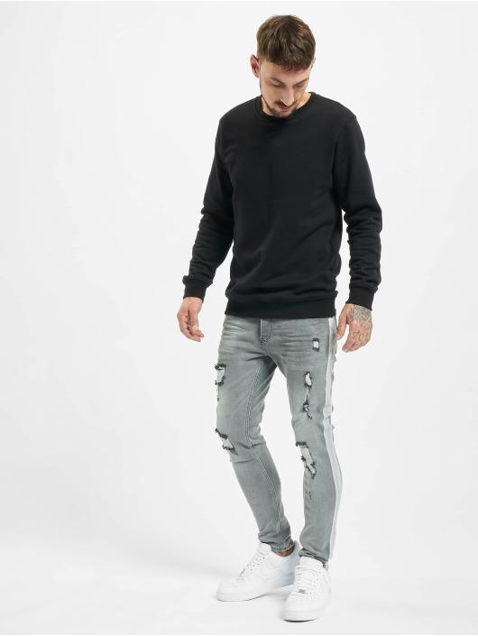 VSCT Clubwear Slim Fit Jeans Knox Handpaint Stripe šedá