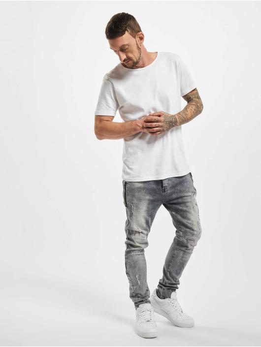 VSCT Clubwear Slim Fit Jeans Thor Slim 7P With Zips šedá