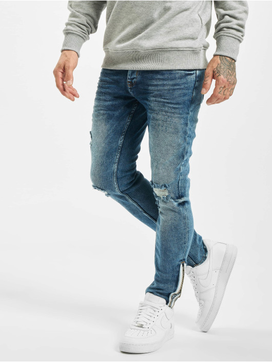 VSCT Clubwear Slim Fit Jeans Keanu Leg Zip синий