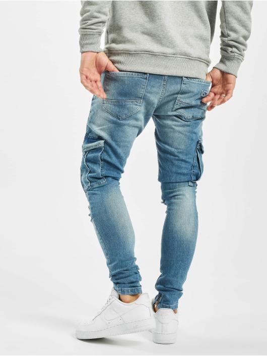VSCT Clubwear Slim Fit Jeans Keanu Denim Biker blå