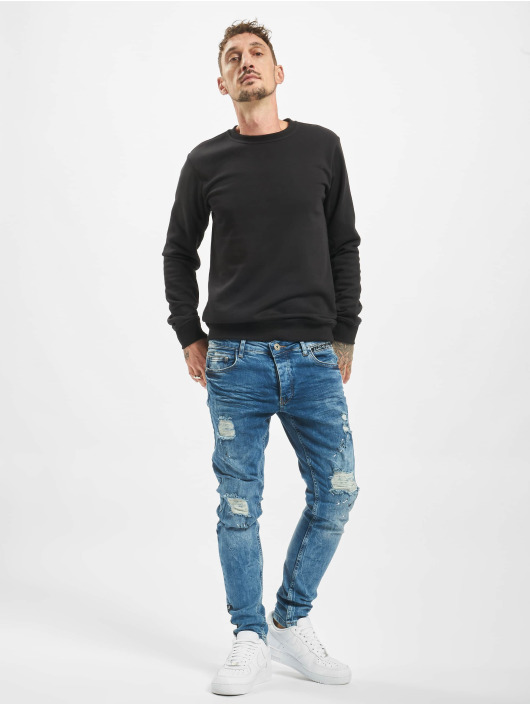 VSCT Clubwear Slim Fit Jeans Thor Slim Splattered blå
