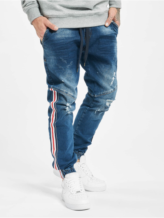 VSCT Clubwear Slim Fit Jeans Noah Slim Racer Tape blå