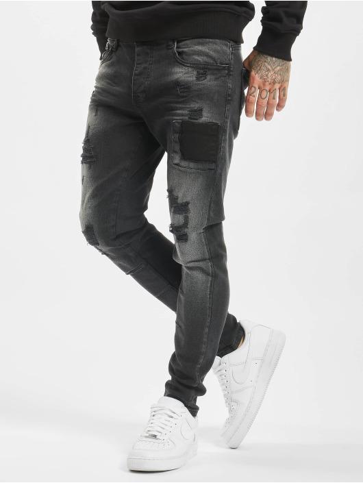 VSCT Clubwear Slim Fit Jeans Keanu Open Zip black