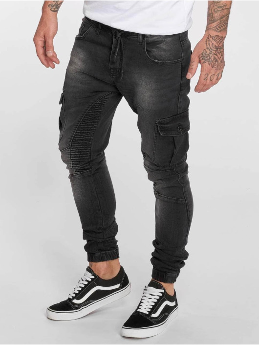 VSCT Clubwear Slim Fit Jeans Noah Cargo Expedited black