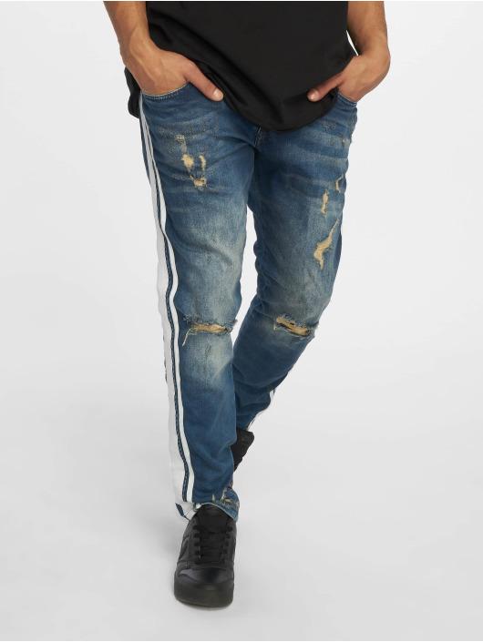 VSCT Clubwear Slim Fit Jeans Knox Bigstripe Kneecut blau