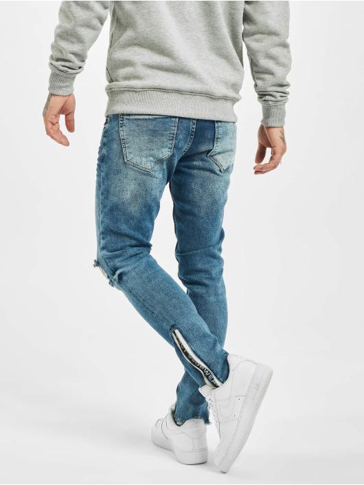VSCT Clubwear Slim Fit Jeans Keanu Leg Zip blu
