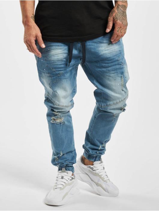 VSCT Clubwear Slim Fit Jeans Clubwear Noah Cuffed Laces blue