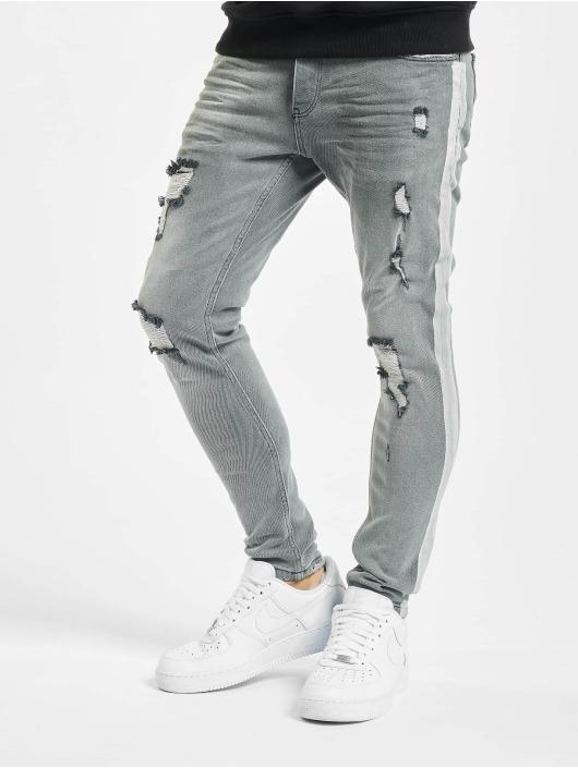 VSCT Clubwear Slim Fit Jeans Knox Handpaint Stripe grau