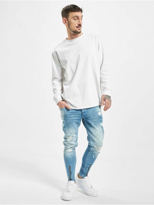 VSCT Clubwear Slim Fit Jeans Thor With Stripe hvit