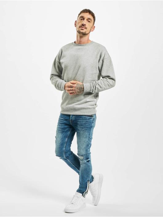 VSCT Clubwear Slim Fit Jeans Keanu Leg Zip modrá