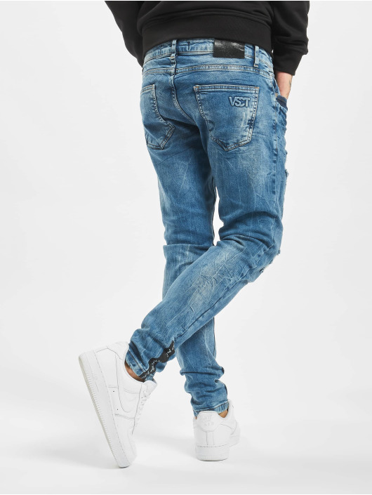 VSCT Clubwear Slim Fit Jeans Thor Slim Splattered modrá