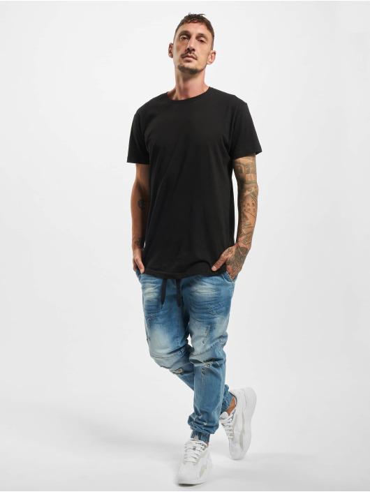 VSCT Clubwear Slim Fit Jeans Clubwear Noah Cuffed Laces modrá