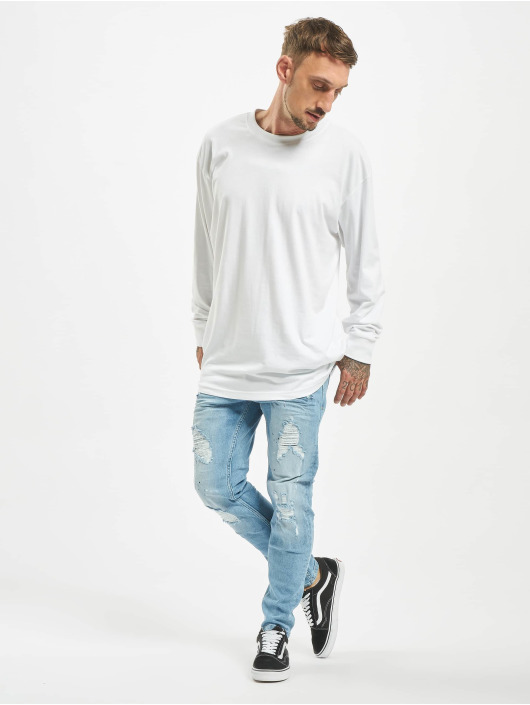 VSCT Clubwear Slim Fit Jeans Thor Bleached Splatter modrá