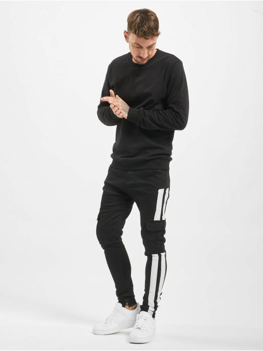 VSCT Clubwear Slim Fit Jeans Keanu Mega Stripe schwarz