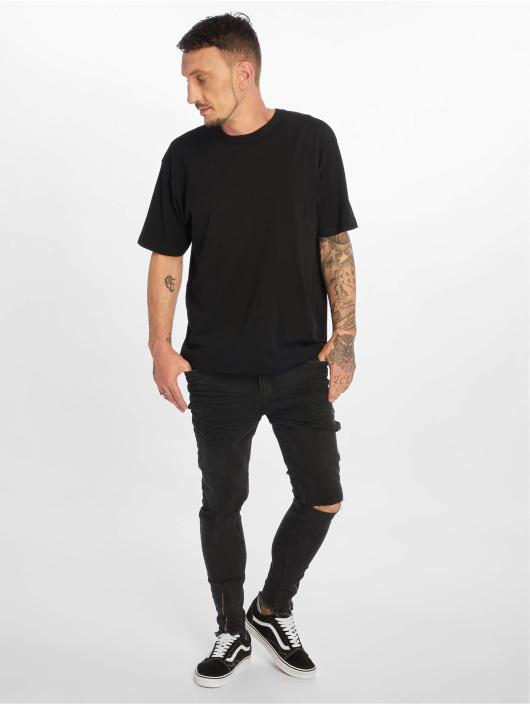 VSCT Clubwear Slim Fit Jeans Keanu Leg Zip zwart
