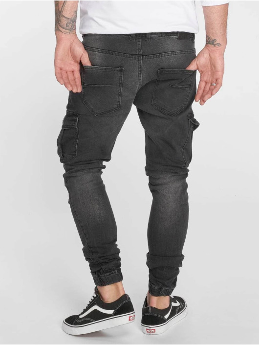 VSCT Clubwear Slim Fit Jeans Noah Cargo Expedited zwart