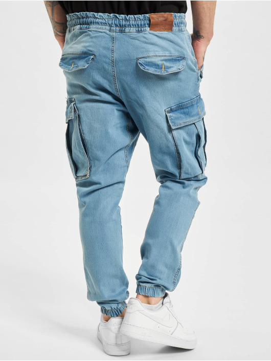 VSCT Clubwear Spodnie Chino/Cargo Norman Baggy niebieski