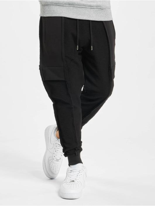 VSCT Clubwear Spodnie do joggingu Lowcrotch Cut To Edge czarny
