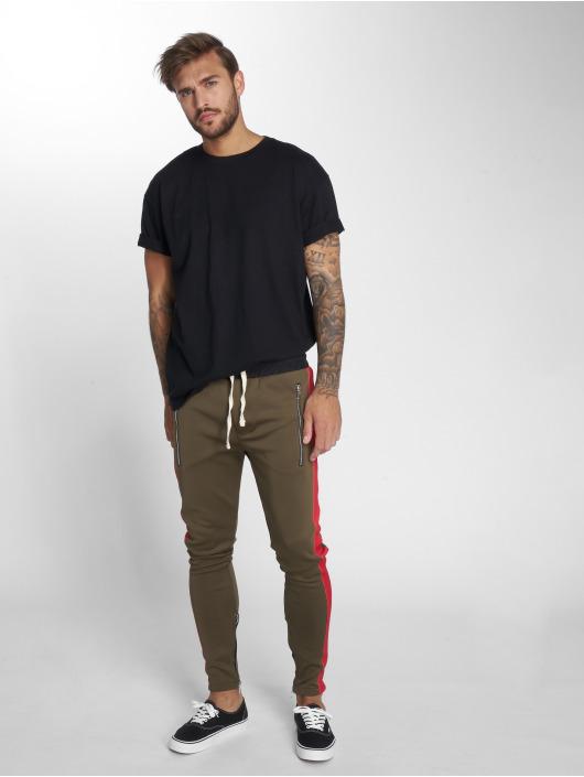 VSCT Clubwear Spodnie do joggingu Stripe with Zip Pocket khaki