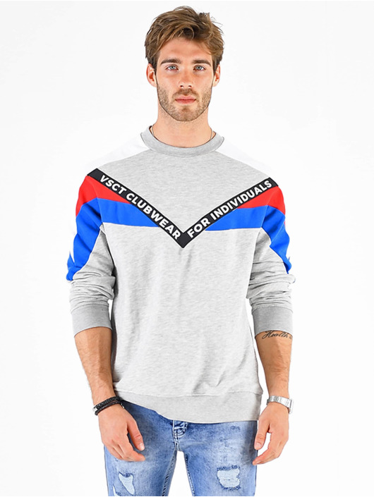 VSCT Clubwear Svetry Coach V Logo Tape Crew šedá