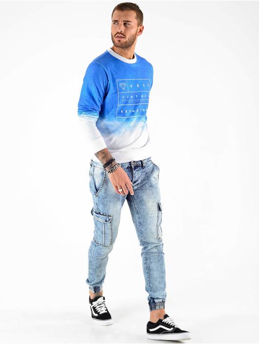 VSCT Clubwear Sweat & Pull Logo Crew bleu