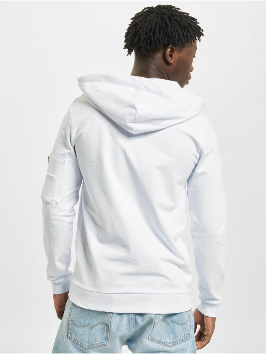 VSCT Clubwear Sweat capuche Hooded Logo Couture blanc