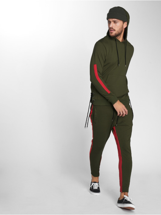 VSCT Clubwear Sweat capuche Striped Laces kaki