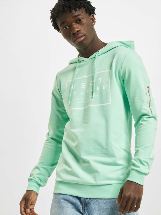 VSCT Clubwear Sweat capuche Hooded Logo Couture turquoise