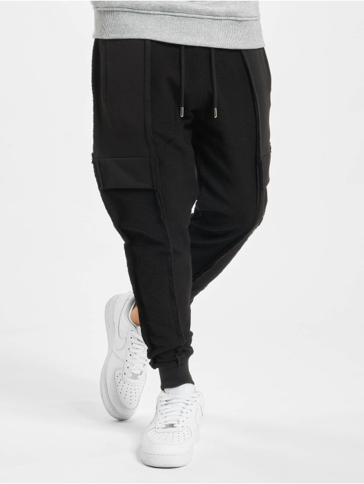 VSCT Clubwear Sweat Pant Lowcrotch Cut To Edge black