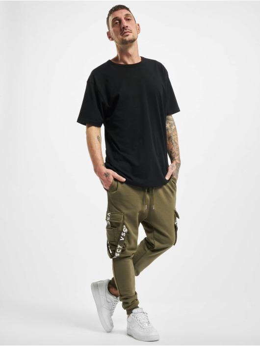 VSCT Clubwear Sweat Pant Cargo Logo Tape khaki